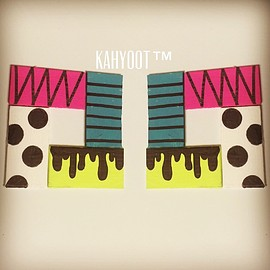 KAHYOOT - Hand painted earrings