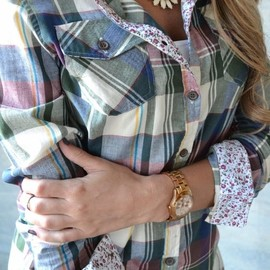 Piace Boutique - Small Town Plaid Top $26.99