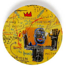 Jean-Michel Basquiat - Yellow Plate 2012