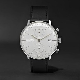 Junghans - Max Bill Chronograph Stainless Steel and Leather Watch