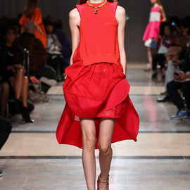 sacai - 2014 SS RED DRESS