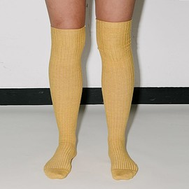baserange - overknee socks - cotton rib in tove melange