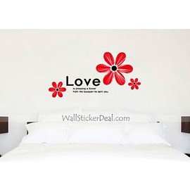 wallstickerdeal.com - Love Is Pressing A Flower Wall Sticker