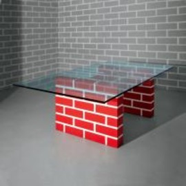 MENPHIS - RED BRICK TABLE No.2 by Richard Woods
