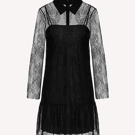 REDValentino - Dentelle fleurs lace dress with collar detail