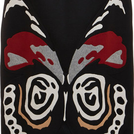 VALENTINO - Embroidered Butterfly Long Cape