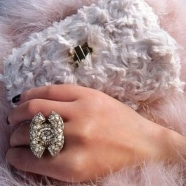 CHANEL - big ring/soft colors.