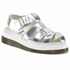Dr.Martens - AGGY INTERLACE SANDAL SILVER KORAM FLASH