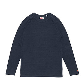 HOLLYWOOD RANCH MARKET - Stretch Fraise Long Sleeve T Shirts-Navy