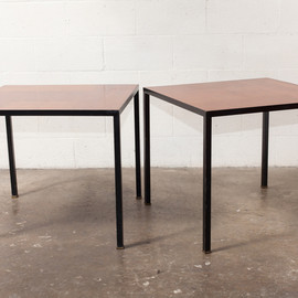 AMSTERDAM MODERN - Pair of Fristho Teak  and Metal Side Tables