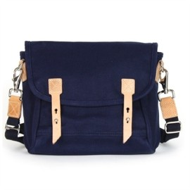 "Makr Carry Goods - ""Farm Satchel"" - Shoulder Bag (Navy)"
