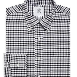 BLACK FLEECE BY Brooks Brothers - BLACK FLEECE Small Check Oxford Button-Down Shirt