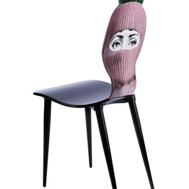 FORNASETTI - Hat and face printed chair