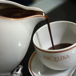 Angelina's - African chocolate chaud with cream