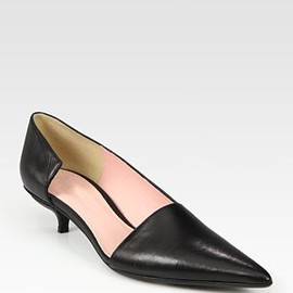 Acne - Julie Leather Point Toe Pumps