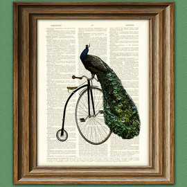 illustration beautifully upcycled dictionary page book art print