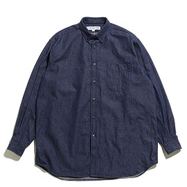 INDIVIDUALIZED SHIRTS - LOFTMAN別注 Oversized BD Shirts-Indigo
