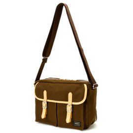 "HEAD PORTER - ""LX"" SHOULDER BAG BROWN"