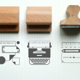 Desk Rubber Stamps