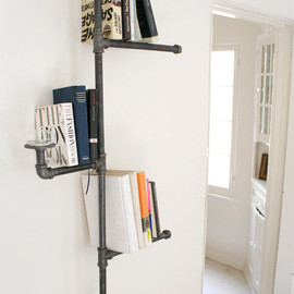 Etsy - Industrial Pipe Bookshelf without Oil Candle