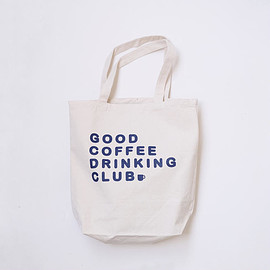 "GOOD COFFEE DRINKING CLUB - GCDC basic logo tote bag ""2nd lot""_natural"