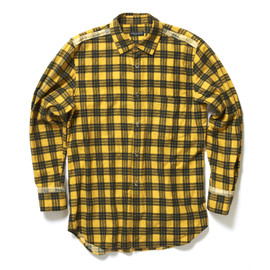 COMME des GARCONS HOMME PLUS - Checkered Pattern Flannel Shirt