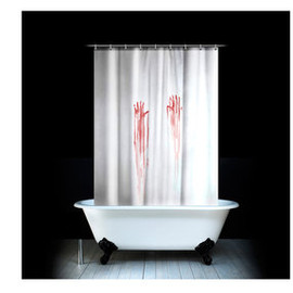 Spinning Hat - 'Blood Bath'  Shower Curtain