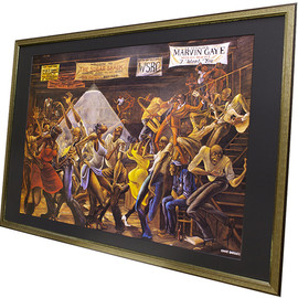 Ernie Barnes - Sugar Shack [DX Framed - Pool]