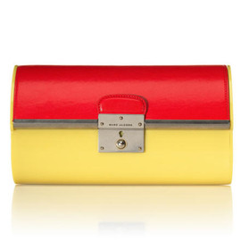 marc by marc jacobs - 2013 resort colorblock plexy-clutch yellow coral
