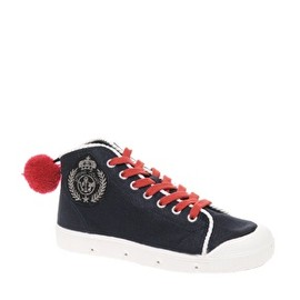 Spring Court - Matelot Pom Pom Detailed Hi-Top Trainers