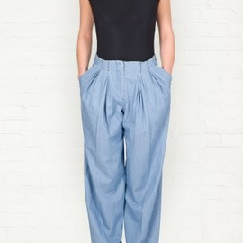 SEE BY CHLOE - See by Chloe■■Chambray Pleat Front Trousers