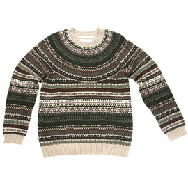 White Mountaineering - Nordic Pattern Jacquard Knit