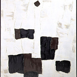 Paul-Émile Borduas - étoile noire, 1957, oil on canvas