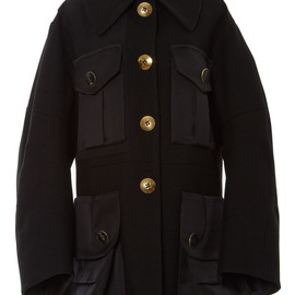 MARC JACOBS - SS2015 Black Oversized Coat With Pave Detail