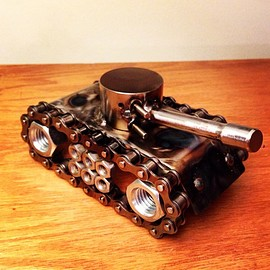 Battle Tank Metal Art