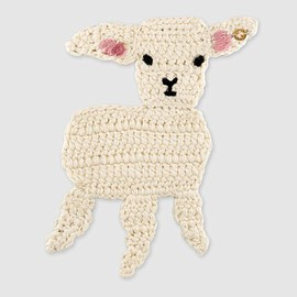 GUCCI - Embroidered lamb brooch