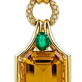 Henry Dunay - Citrine, Emerald & Diamond Necklace
