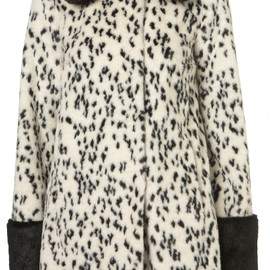 TOPSHOP - Animal Contrast Dalmatian Swing Coat