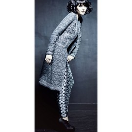 Ekaterina Kukhareva - Grey Knitted Coat With Crochet Details