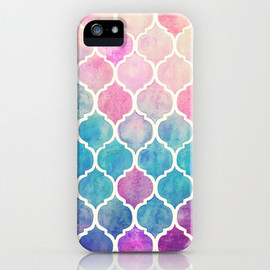 Micklyn - Rainbow Pastel Watercolor Moroccan Pattern iPhone & iPod Case