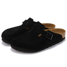 BIRKENSTOCK - BOSTON / BLACK SUEDE