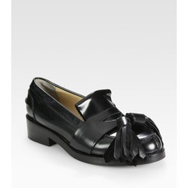 Acne - Leather Oversized Tassel Loafers