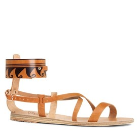 Clio metallic leather and suede sandals