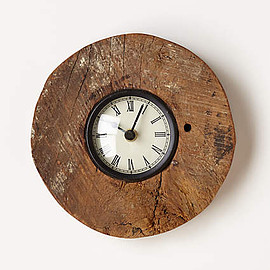 Anthropologie - Reclaimed Wood-Wheel Clock