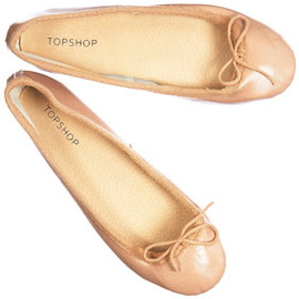 TOP SHOP - VIBRANT Salmon Ballet Pumps