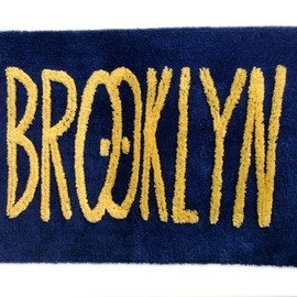 BROOKLYN RUG - by Kevin Lyons(WHITE×BLACK)