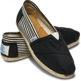 TOMS - University Black Rope Sole Women's Classics