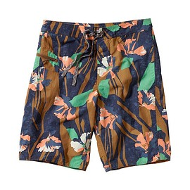 """patagonia - Men's Wavefarer Board Shorts - 21"""" - Abstract Floral: Navy Blue ABSN"""