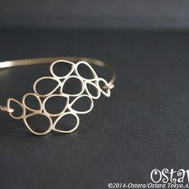 Ostara - 14k Gold Filled Wire Bangle/14kgf Filigree