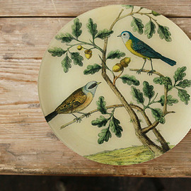 "John Derian Company - ラウンド LL ""Mountain Titmouse"""